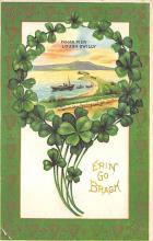 holA070386 - Fahan Pier Lough Swilly Saint Patrick's Day Postcard