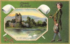 holA070527 - Ross Castle Killarney Saint Patrick's Day Post Card