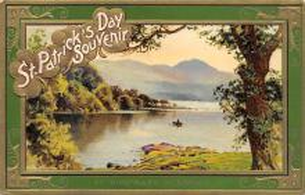 holA070549 - Innisfallen Killarney St. Patricks Day Postcard