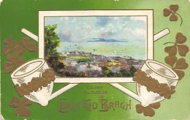 holA070551 - Dalkey Co. Dublin St. Patricks Day Postcard