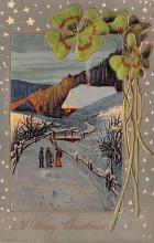 holA070556 - A merry Christmas St. Patricks Day Postcard