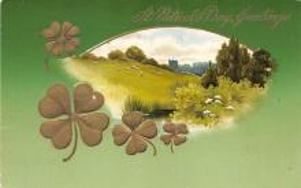 holA070576 - Greetings St. Patricks Day Postcard