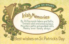 holA070588 - St Patrick's Day St. Patricks Day Postcard