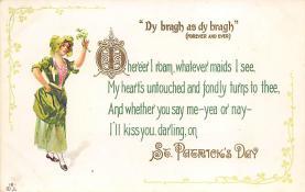 holA070595 - The Sunny Nook, St Patrick's Day St. Patricks Day Postcard