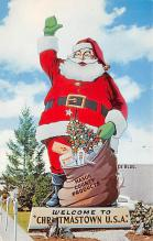 holf017804 - Santa Claus Postcard Vintage Christmas Post Card
