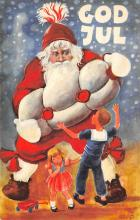 holf017817 - Santa Claus Postcard Old Christmas Post Card