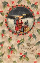 holf017818 - Santa Claus Postcard Old Christmas Post Card
