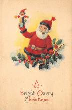 holf017827 - Santa Claus Postcard Old Christmas Post Card