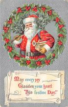 holf017832 - Santa Claus Postcard Old Christmas Post Card