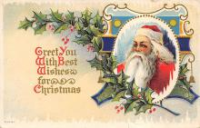 holf017834 - Chritmas Santa Claus Postcard Post Card