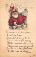 holf017851 - Santa Claus Postcard Old Christmas Post Card