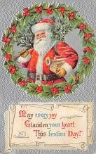holf017852 - Santa Claus Postcard Old Christmas Post Card