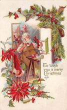 holf017859 - Santa Claus Postcard Old Christmas Post Card