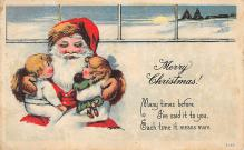 holf017868 - Santa Claus Postcard Old Vintage Christmas Post Card