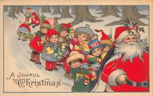 holf017872 - Santa Claus Postcard Old Vintage Christmas Post Card