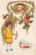 holf017884 - Santa Claus Postcard Old Christmas Post Card