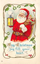holf017891 - Santa Claus Postcard Old Christmas Post Card