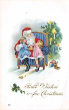 holf017893 - Santa Claus Postcard Old Vintage Christmas Post Card