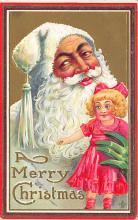 holf017895 - White Suit Santa Claus Postcard Christmas Post Card