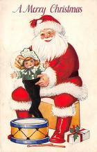 holf017899 - Santa Claus Postcard Antique Christmas Post Card