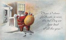 holf017901 - Santa Claus Postcard Antique Christmas Post Card