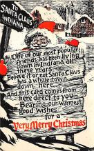 holf017903 - Santa Claus Postcard Antique Christmas Post Card