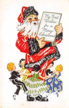 holf017905 - Santa Claus Postcard Antique Christmas Post Card