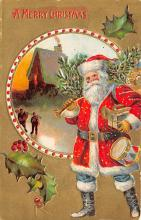 holf017907 - Santa Claus Postcard Antique Christmas Post Card