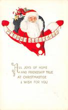 holf017912 - Santa Claus Postcard Antique Christmas Post Card