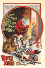 holf017915 - Santa Claus Postcard Antique Christmas Post Card