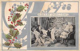 holf017925 - Santa Claus Postcard Antique Christmas Post Card