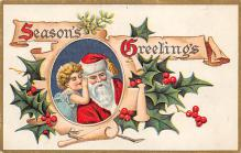 holf017944 - Santa Claus Postcard Old Vintage Christmas Post Card
