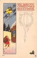 holf017946 - Santa Claus Postcard Old Vintage Christmas Post Card