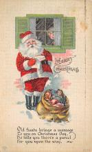 holf017948 - Santa Claus Postcard Old Vintage Christmas Post Card