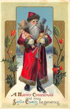 holf017949 - Santa Claus Postcard Old Vintage Christmas Post Card