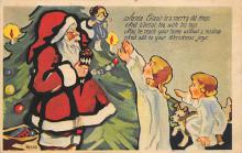 holf017955 - Santa Claus Postcard Christmas Post Card
