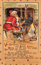 holf017964 - Santa Claus Postcard Christmas Post Card