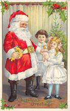 holf017968 - Santa Claus Postcard Christmas Post Card