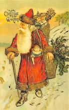 holf017977 - Reproduction Santa Claus Postcard Christmas Post Card
