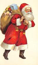 holf017982 - Reproduction Santa Claus Postcard Christmas Post Card