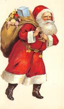 holf017983 - Reproduction Santa Claus Postcard Christmas Post Card