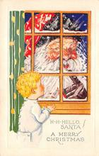 holf017998 - Santa Claus Postcard Old Christmas Post Card