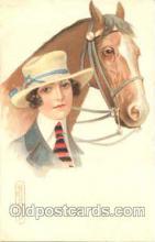 hor001034 - Artist Colombo, Horse Horses Postcard Postcards