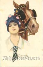 hor001042 - Artist Nanni, Horse Horses Postcard Postcards