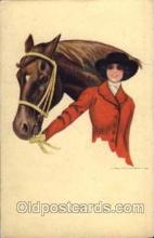 hor001069 - Artist Signed Nanni Horse Postcard Postcards