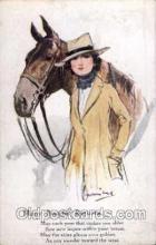 hor001072 - Artist Signed Barribal Horse Postcard Postcards