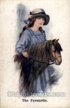 hor001075 - Artist Signed unknown Horse Postcard Postcards