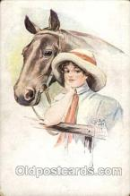 hor001077 - Artist Signed Court Barber, Horse Postcard Postcards