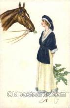 hor001082 - Artist Signed Bianchi Horse Postcard Postcards