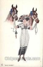hor001094 - Artist Signed Charles W. Holmes Horse Postcard Postcards